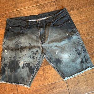 BUffalo DB Distressed Black Jean Shorts, 38 EUC